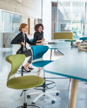 Sedus turn around high desk chair