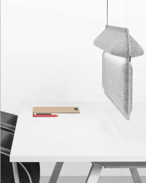 Workplace divider lamp
