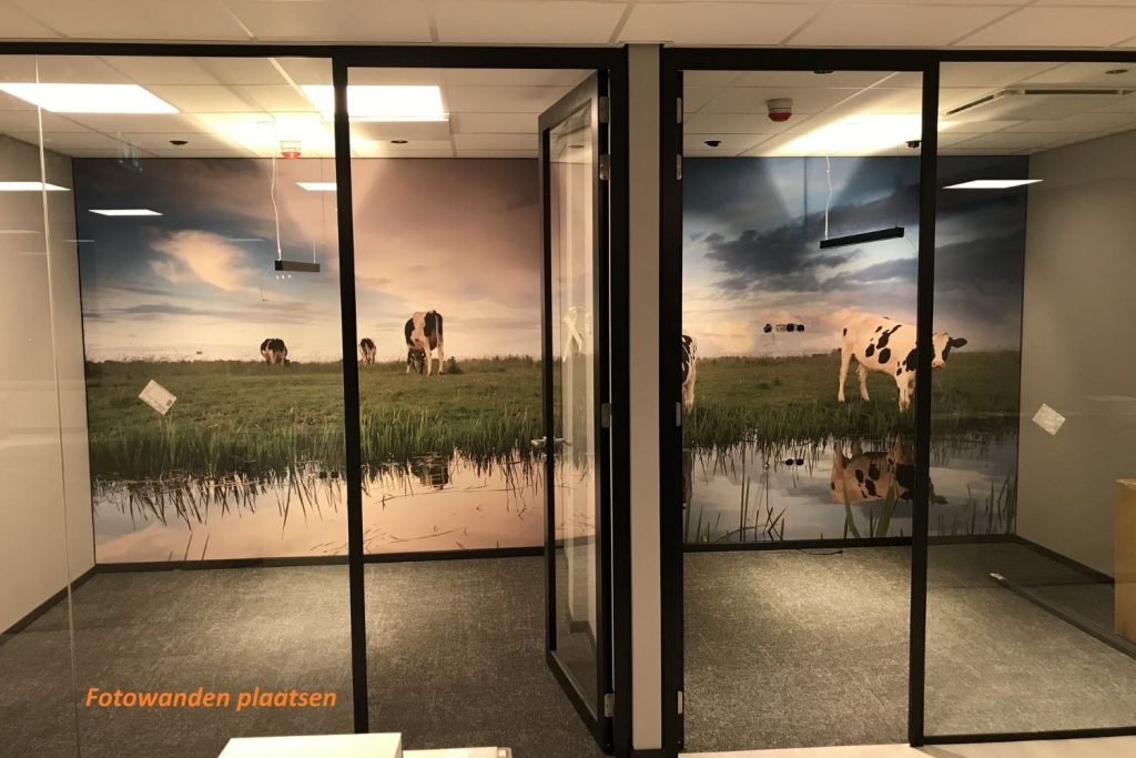 Fotowanden op kantoor